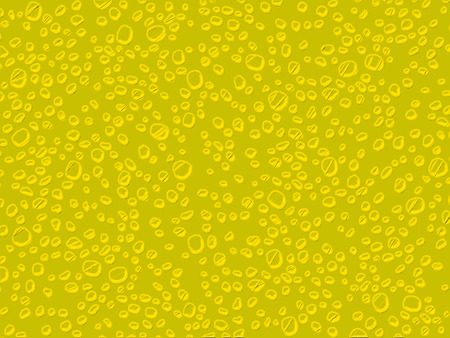 yellowish: Yellow water drops illustration background texture Stock Photo