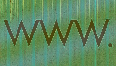 typographies: Green dark internet signs www abstract background