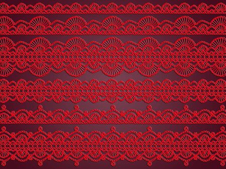 purls: Red elegant pattern abstract background of textile design