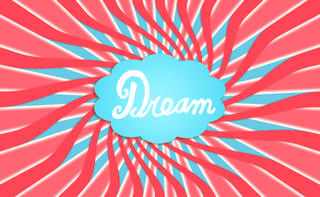 idealized: Dream cloud illustration background