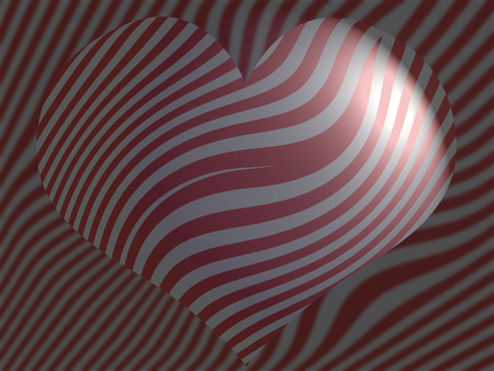 misterious: Dark striped heart background