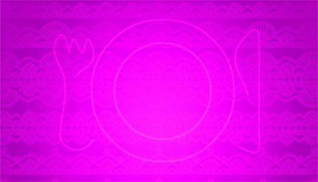 delicated: Table plate on purple background