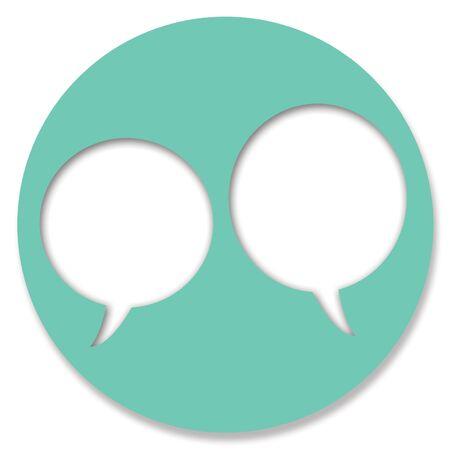 Chat-Kreis Web-Taste Blasen Standard-Bild