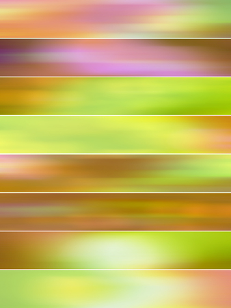 sequences: Green mist blurs abstract backgrounds set
