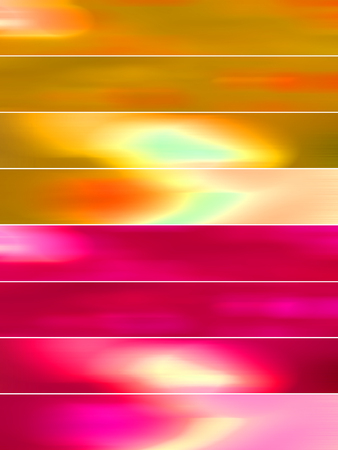 sequences: Misty warm colors banners abstract backgrounds set