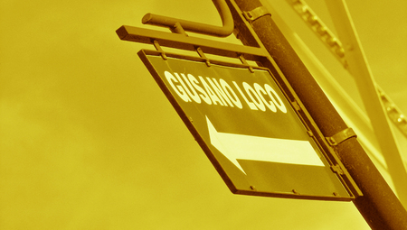 typographies: Sepia street sign close up