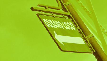 typographies: Green street signal Stock Photo