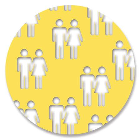 heterosexual couples: Heterosexual couples circle isolated on white