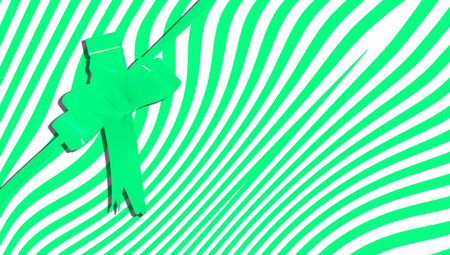 b day gift: Green xmas present abstract background stripes