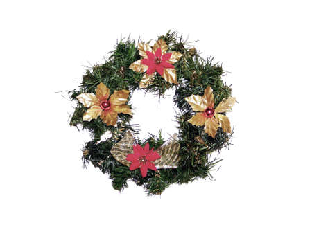 folliage: Traditional Christmas wreath ring
