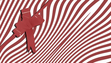 b day party: Chocolate brown stripes abstract present background with ribbon Stock Photo