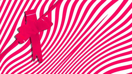 b day gift: Red stripes xmas present abstract background