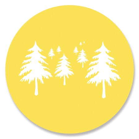yellowish: Forest sticky note background
