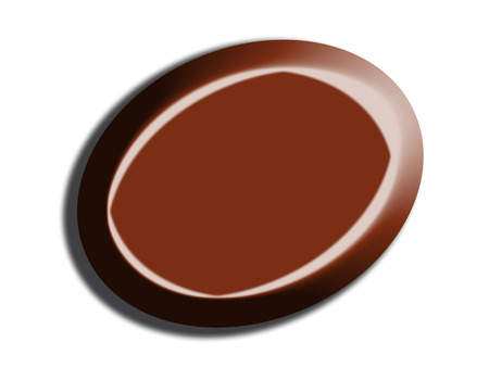 dark chocolate: Dark chocolate oval isolated on white background Stock Photo