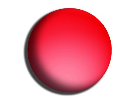 comfit: Red circular web button isolated on white background Stock Photo