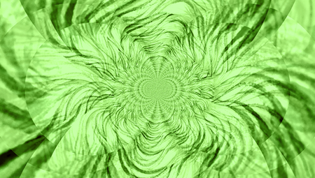 wormhole: Green perspective to infinite wormhole abstract background Stock Photo