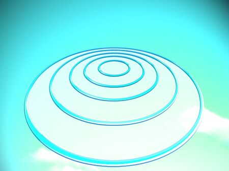 Blue UFO or target bade for your goals projection