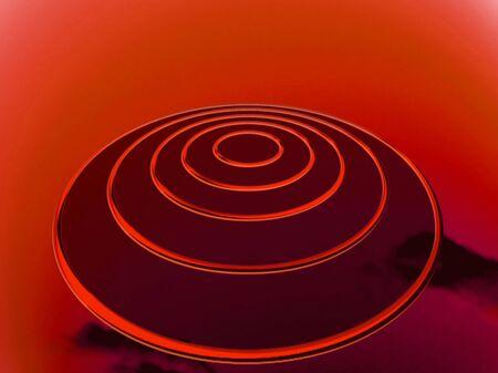 ufos: U.F.O. under red light