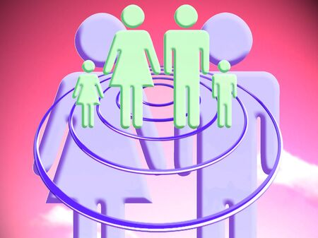 Planned family conceptual stock image Reklamní fotografie