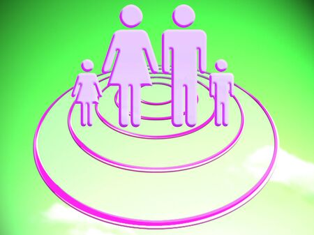Family plan target abstract conceptual illustration