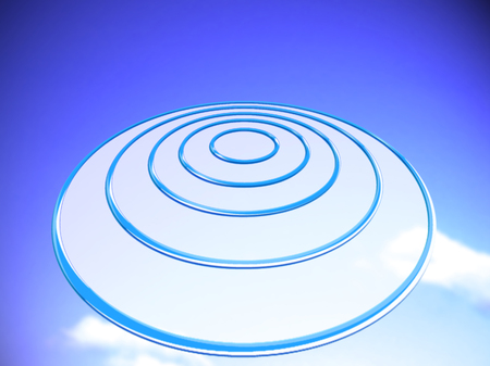 smaller: Blue OVNI target abstract background