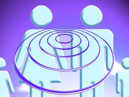 conceptual: Hypnosis conceptual stock image