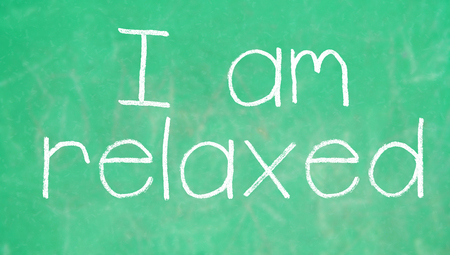 i am: I am relaxed concept for school class