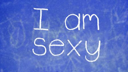 i am: I am sexy on school class background