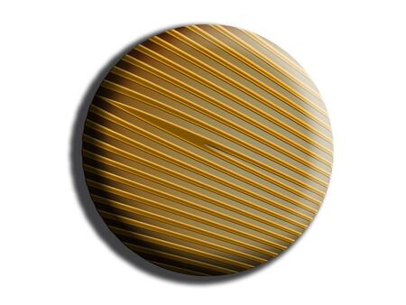 sweetness: Circular striped candy button isolated on white Stock Photo
