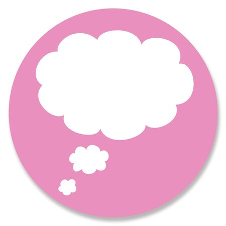 for a dream: Cloud for dream on pink button circle Stock Photo