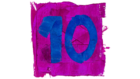 number 10: Number 10 of signs 10 of colours