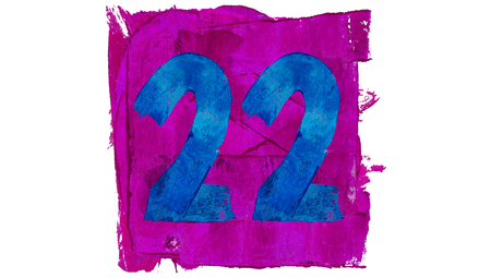 twenty two: Twenty two in numbers of brushed colors