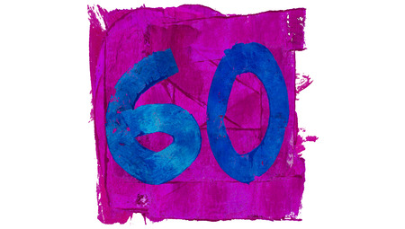 sixty: Sixty numbers painting signs