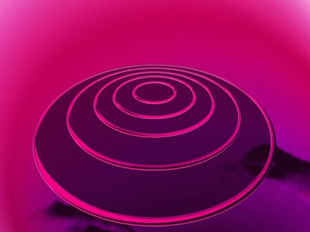 targets: Pink targets base abstract background like an ovni Stock Photo