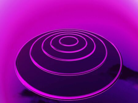 targets: Purple ovni at night or space for targets planification Stock Photo
