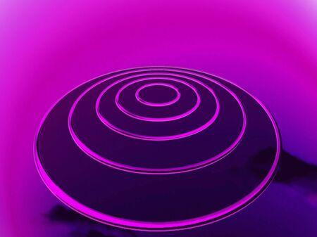 Purple ovni at night or space for targets planification Reklamní fotografie