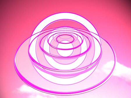 time travel: Time travel abstract background illustration on pink