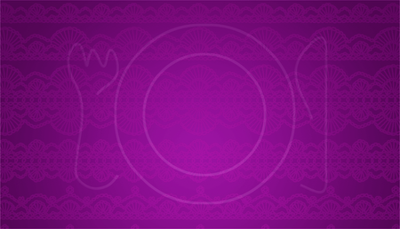 purls: Purple abstract background with subtle elegant plate Stock Photo