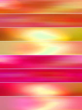 sequences: Red and orange hot abstract background of banners set
