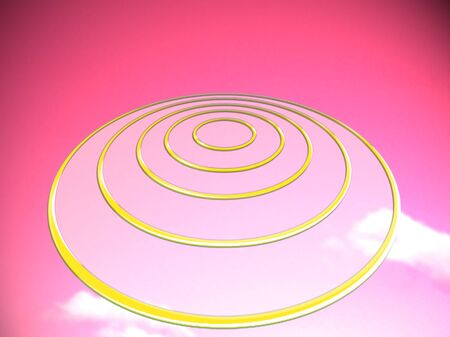 pinkish: UFO or tagets base on pink abstract background
