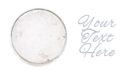 close ups: Refreshing glass of ice from top view with copyspace for your text Stock Photo