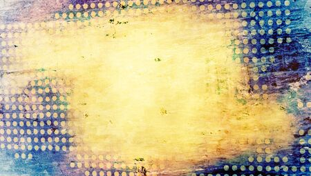 yellowish: Grunge old dots abstract background of yellowish color