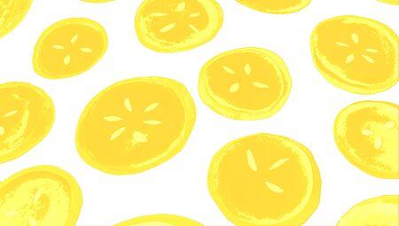 orange slices: Orange slices illustration isolated on white