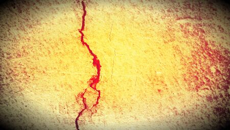 oldish: Cracked wall abstract background Stock Photo