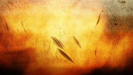 redish: Orange stained metal abstract background