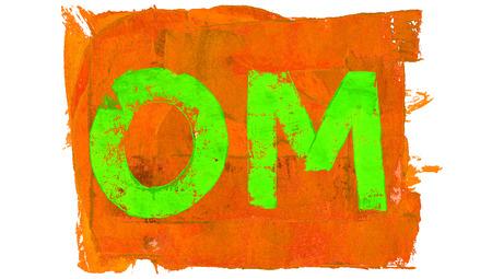 brilliant colors: Om sylabe of brilliant colors paint