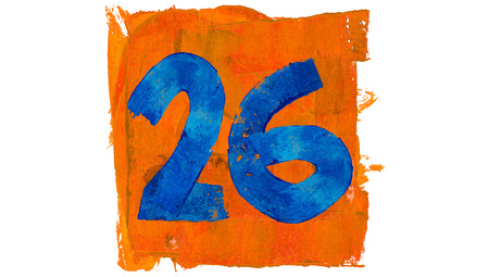 26: Number 26 of colors paint Stock Photo