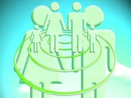 conceptual image: Famili projection for the future conceptual image