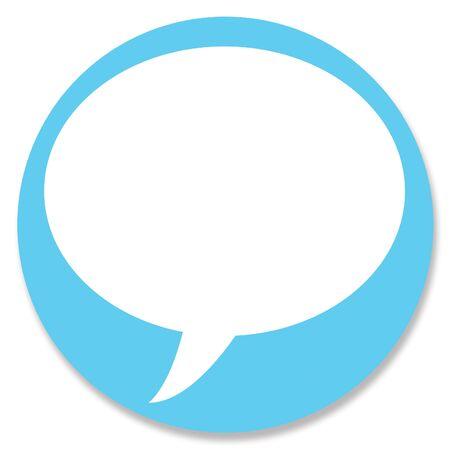 talk balloon: Chat web button circle with talk balloon