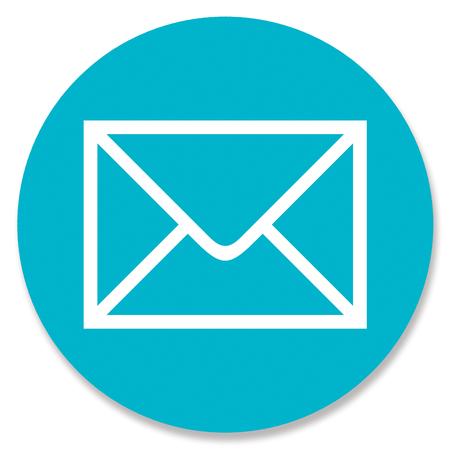 web button: Mail web button on blue circle